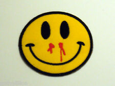 MOTORCYCLE RIDER BIKER SEW/IRON ON PATCH:- SMILEY FACE (b) BLEEDING NOSE SMILE