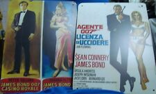 6 Reproduction Porcelain Enamel 007 James Bond Movies Sign Boards from England