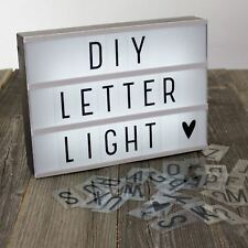 Light Up A4 Letter Box Cinematic Led Sign Party Wedding Shop Cinema Words Plaque
