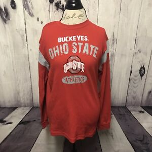 Ohio State Buckeyes Boys Youth Red Long Sleeve Shirt XXL 2XL 18 Outerstuff New