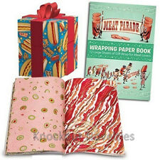 Meat Parade Wrapping Paper Book Presents Gift Birthday Party Sheets Folded