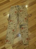 "Vintage Ralph Lauren *Size 6P* Women's Cropped Stretch Floral Pants 25"" inseam"