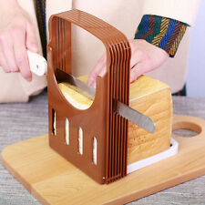 Foldable Baking Bread Loaf Toast Slicer Cutter Cutting Slicing Kitchen Tool #AU