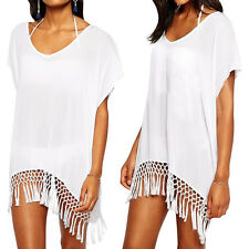 Plus Size Women Beach Wear Dress Bikini Swimwear Cover Up Crochet Bathing Suit