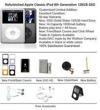 128GB SSD Custom Refurb Apple iPod Classic 6th Gen Mint Condition Multi Color