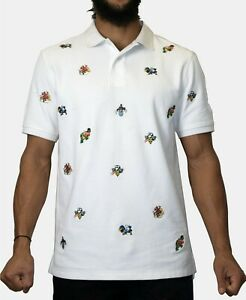 Heritage America Mens Cotton Embroidered Polo Shirt Size XL $68