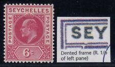 "Seychelles, SG 62a, MLH ""Dented Frame"" variety"