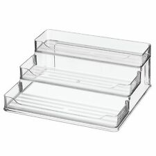 mDesign Plastic Spice and Food 3 Tier Kitchen Shelf Storage Organizer - Clear