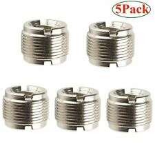 "5 Packs 5/8-Inch Male to 3/8-Inch Female Microphone Screw Adapter 5/8""-27 to 3/8"