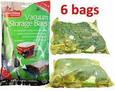2 x 3 Pack Unscented Sottovuoto Salvaspazio Sacchetto Vac, SPACE SAVER BAG 50x70cm