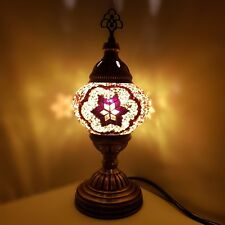 Authentic Turkish Moroccan Colourful Lamp Light Tiffany Style Glass Desk Table