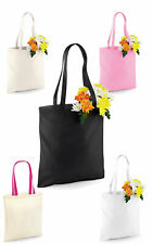33 Colours Reusable Shopping Bag eco tote For Life LONG HANDLE 100% Cotton,Black