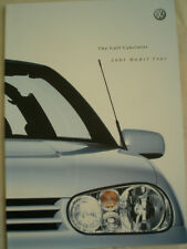 VW Golf Cabriolet range brochure 2001 model year pub May 2000