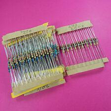 300Pcs Resistor Kit Pack 10 -1M Ohm 1/4w Resistance 1% Metal Film