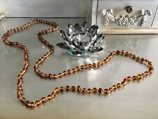 Brand New Extra Long Brown Multi Beaded Boho Necklace