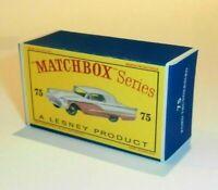 Matchbox Lesney 75 Ford Thunderbird empty Repro D style Box