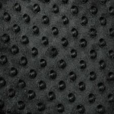 """Black Minky Dot Cuddle Fabric - Sold By The Yard - 58""""/ 60"""""""