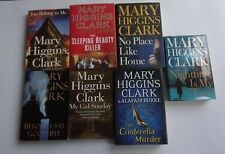 Mary higgins clark 7 diffrent hardcover books lot. suspense thriller.