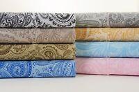 Bibb Paisley 1200 Thread Count Cotton Rich 6 Piece Bed Sheet Set - 8 Colors