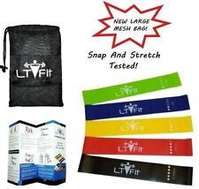 ResistanceBands LoopSet of 5 Exercise Workout CrossFit Fitness Yoga Booty Band