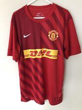 Manchester United Man Utd Training Warm Up Jersey Football Shirt Size Medium
