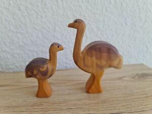 Ostheimer Tiere :  2 x Emu , groß und klein