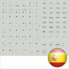 Adhesivo de Teclado Español Todos Teclas Gris Spain España Llave Electrónica