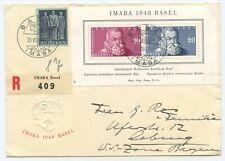 Schweiz IMABA R Brief Basel Coburg 1948