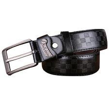 Hombre Negocios Cinturilla Vestido Casual Cuero Auténtico Hebilla Correa