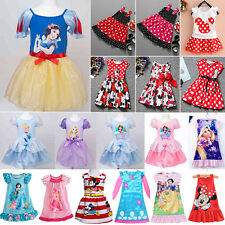 Toddlers Girls Princess Dress Disney Character Party Skater Dresses Kids Clothes