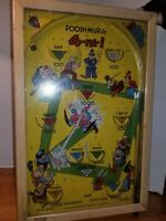"""POOSH-M-Up Jr.   1930's Vintage Table Top Pinball Game  """"Baseball""""  4-in-1"""