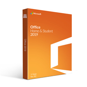 Microsoft office Home and Student 2019 1 PC Windows DVD New Retail Box With Code