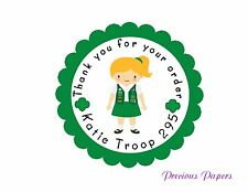 girl scout Stickers brownie Stickers Daisy Personalized stickers