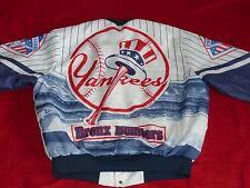 * New York Yankees STARTER Bomber Giubbotto * BIANCO BLU * USA * VINTAGE * Taglia: XL * rarità