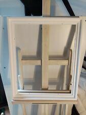 Cadre Caisse américaine en bois ,45x35mm Satinée Blanche ,Format 12F 61 X 50 CM