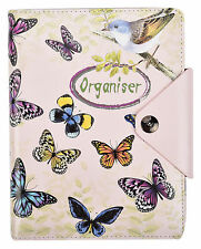 A5 Refillable Notebook, Writing Journal Executive Ruled Organiser - Butterfly