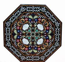 "36"" black Marble center coffee Table Top Inlay pietra dura home Decor"