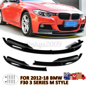 AU!! For BMW 12-18 F30 3 Series Front Bumper Cover Lip Surface M Style   !G%