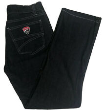 Ducati Corse Jeans Women's Size 46 EU Black Denim Motorcycle Pants Made In Italy