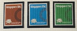 SINGAPORE  SG 212 - 214  Beautiful  Mint  Light  Hinged  Set