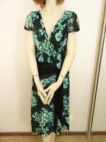 BANG Black Print Stretch Floral Dress Sz 12