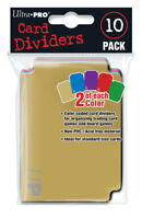 Ultra PRO Trading Card Storage Dividers 10ct Multi 5 Colours