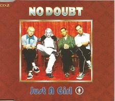 Gwen Stefani NO DOUBT Just a Girl RARE MIX & 2 LIVE CD Single USA Seller SEALED