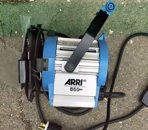 Arri 650 Plus Fresnel Light and Barndoors Used