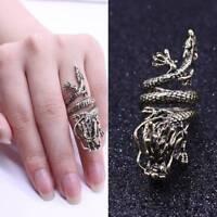 Fashion Winding Multi-layer Opening Zodiac Faucet Chinese Dragon Ring Jewelry
