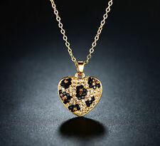 Sevil 18K Gold Plated Heart Necklace W/ Multi-Color Swarovski Elements