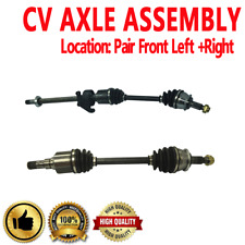 FRONT LEFT & RIGHT CV DRIVE AXLE SHAFT ASSEMBLY PAIR For MINI COOPER 2005-2007