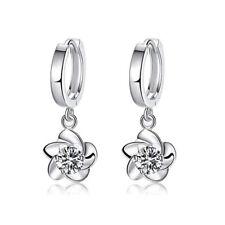 Women Stainless Steel Fashion Lady Ear Stud Hoop Dangle Earrings Jewelry Spiral