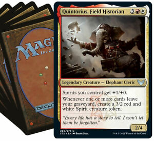 QUINTORIUS Commander Deck MTG Red White Magic the Gathering Lot with Rares