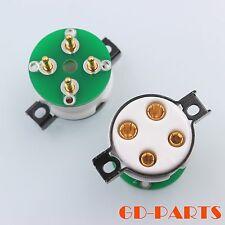 High end 4 pin vacuum tube sockets with adapter PCB board for 2A3 300B 5Z3 1set